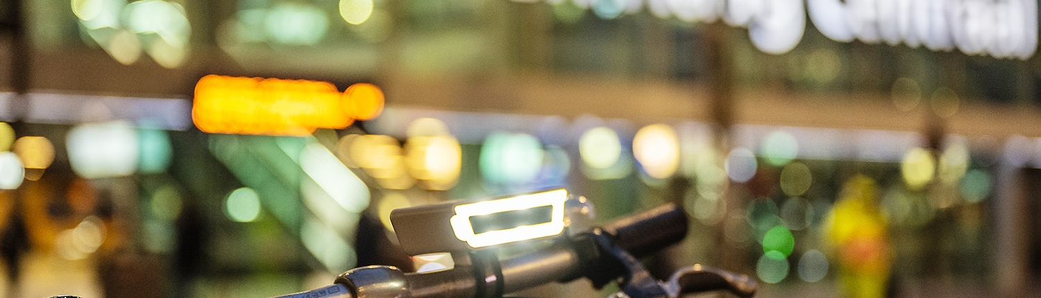 Rydon front bicyle lights in The Hague
